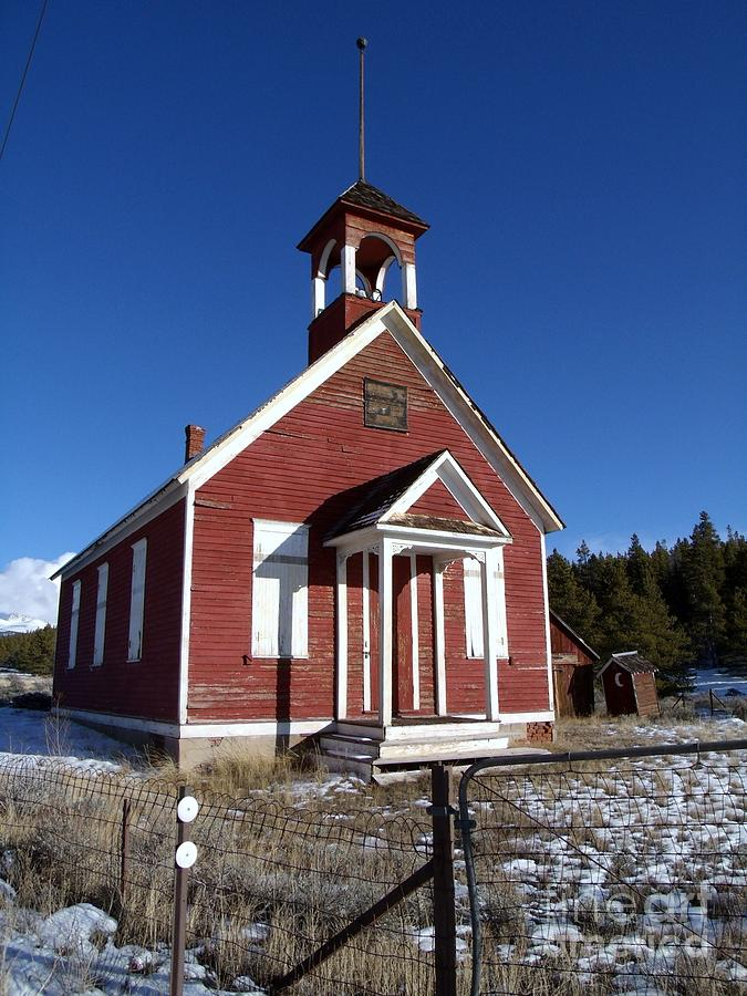 Old Historic One Room School House Photograph
