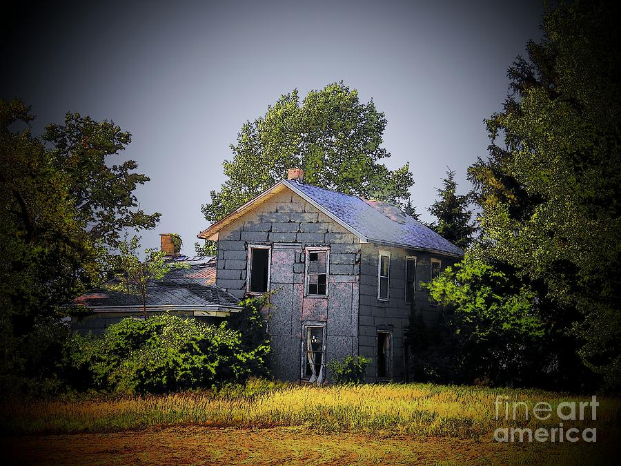 Old Home In Indiana Photograph  - Old Home In Indiana Fine Art Print