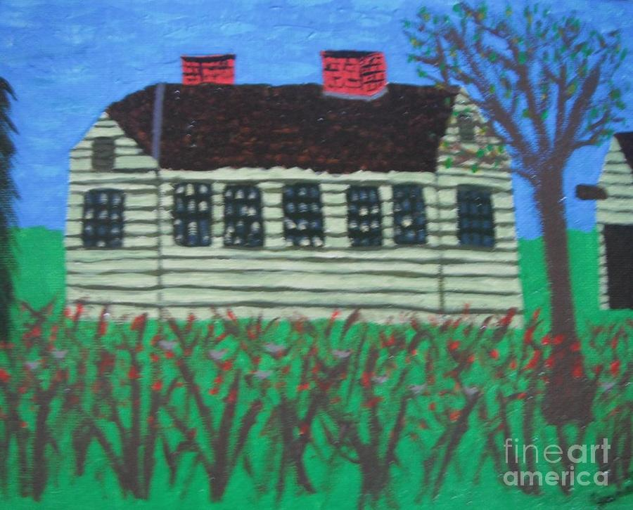 Old Homestead Painting  - Old Homestead Fine Art Print