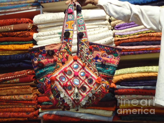 Old Indian Bags Tapestry - Textile