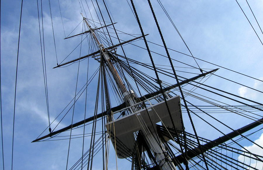 Old Photograph - Old Ironsides by Anne Babineau