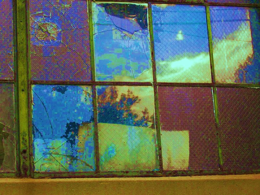 Old Lace Factory Window Photograph  - Old Lace Factory Window Fine Art Print