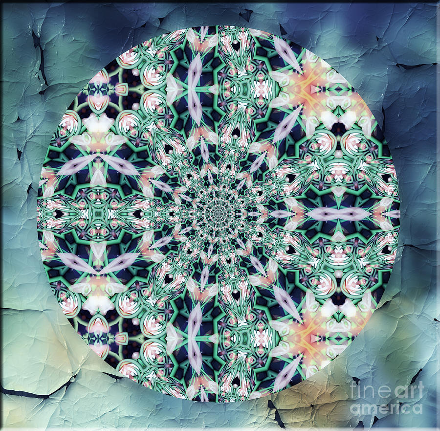 Old Lace Mandala Mixed Media  - Old Lace Mandala Fine Art Print