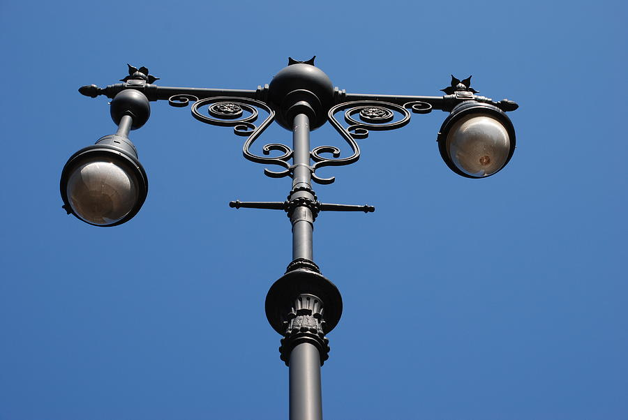 Old Lamppost Photograph  - Old Lamppost Fine Art Print