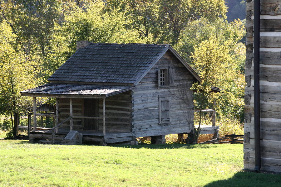 Old log cabin print by cghepburn scenic photos for Log home photos