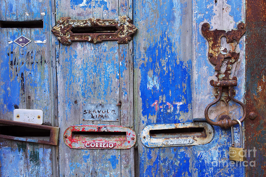 Aged Photograph - Old Mailboxes by Carlos Caetano