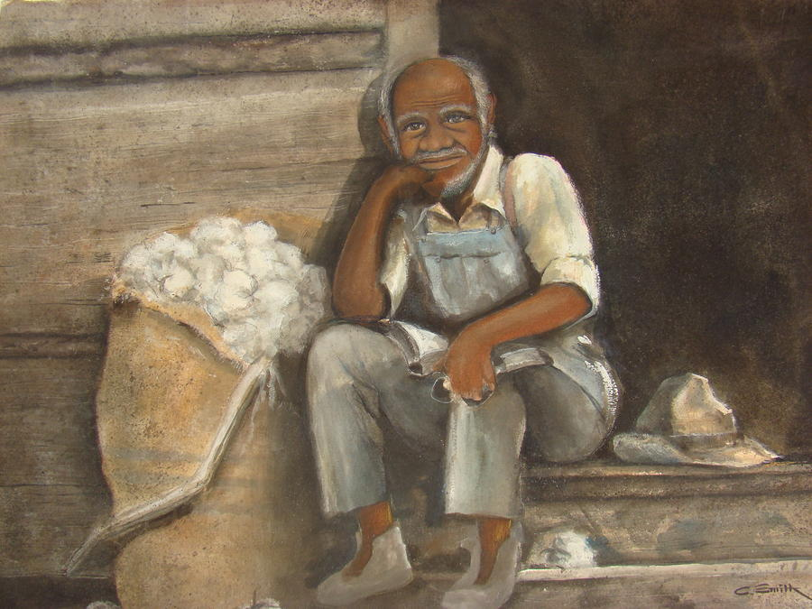 Old Man Cotton Painting