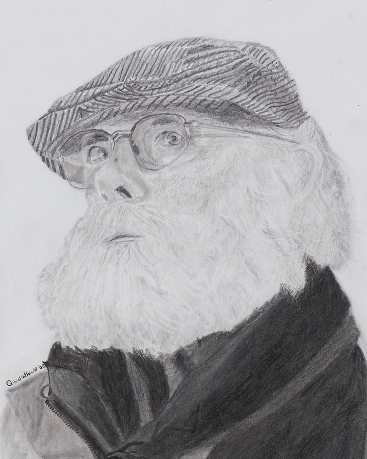 Old Man With Beard Drawing