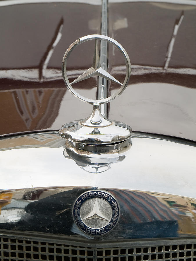 Old Mercedes Logos Photograph  - Old Mercedes Logos Fine Art Print