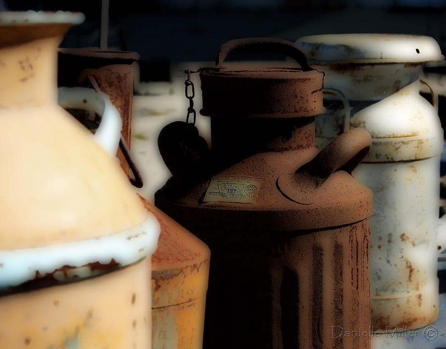Old Milk Cans Photograph