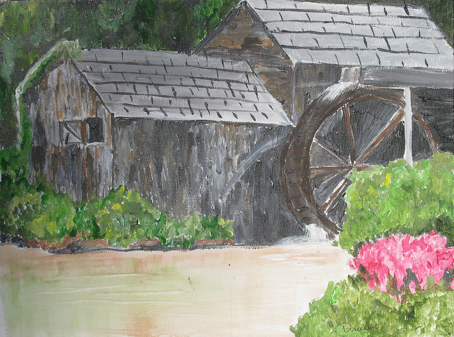 Old Mill Painting