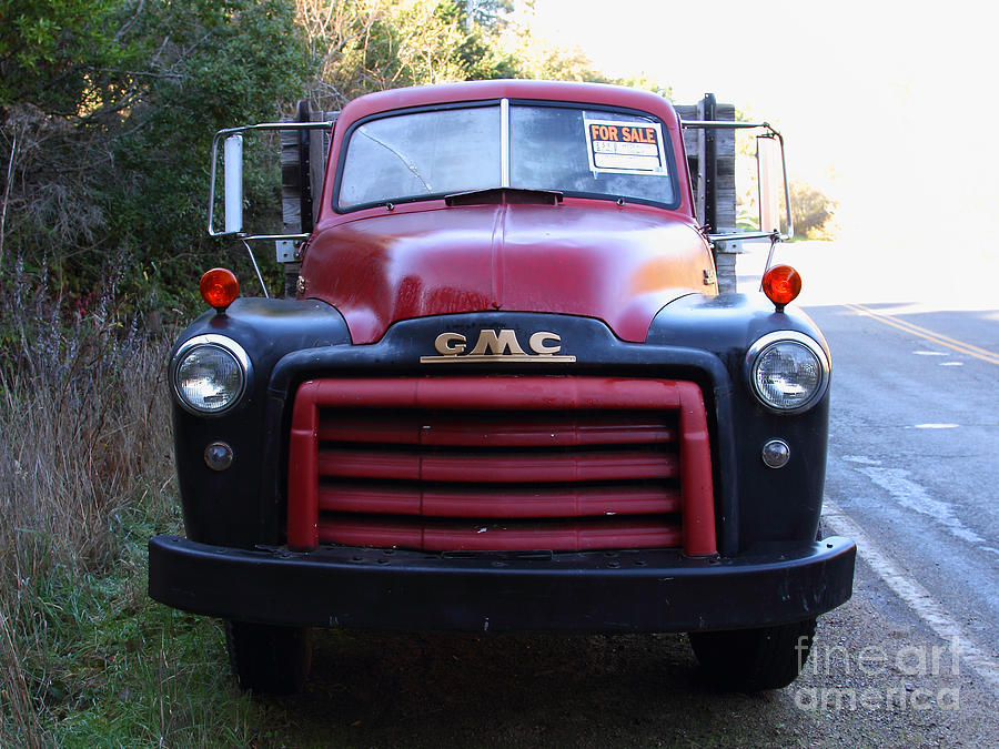 Old Nostalgic American Gmc Flatbed Truck . 7d9823 Photograph