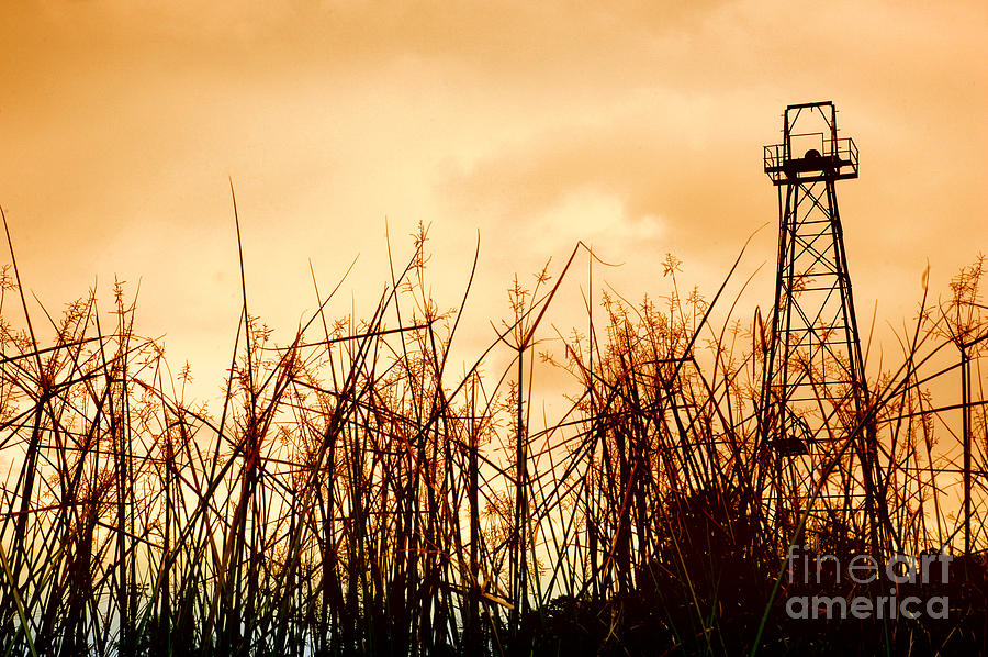 Old Oil Tower Photograph  - Old Oil Tower Fine Art Print