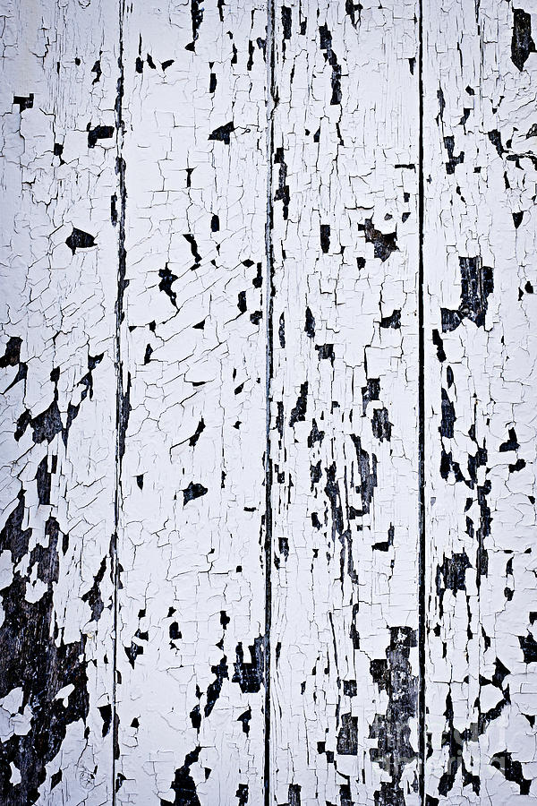 Old Painted Wood Abstract Photograph