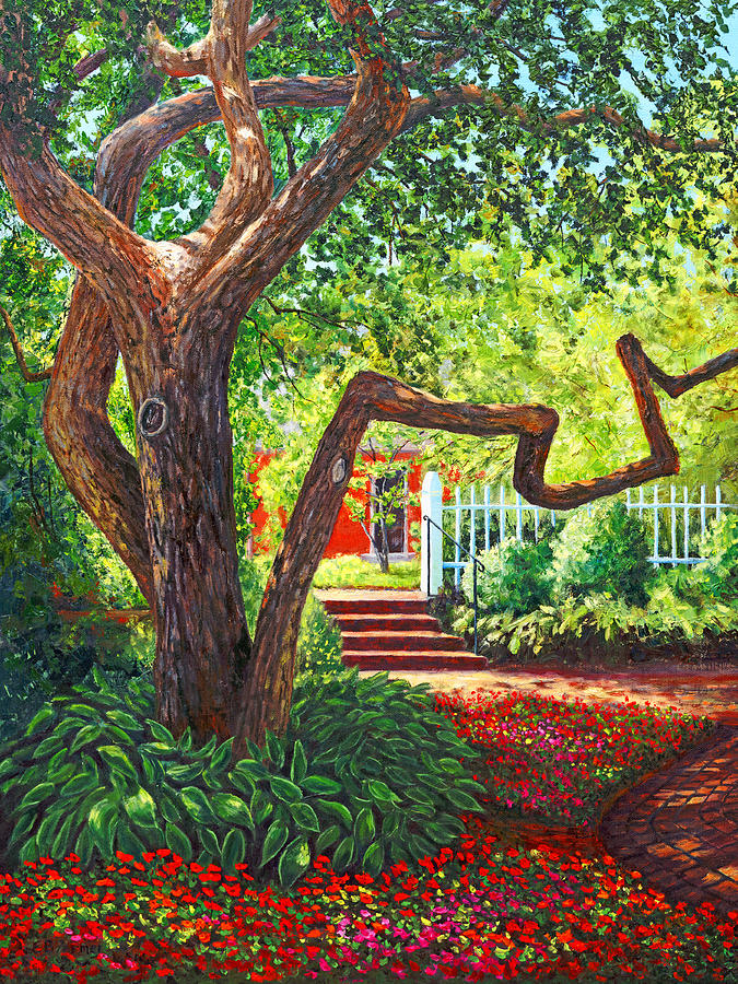 New Hampshire Painting - Old Park Tree by Elaine Farmer