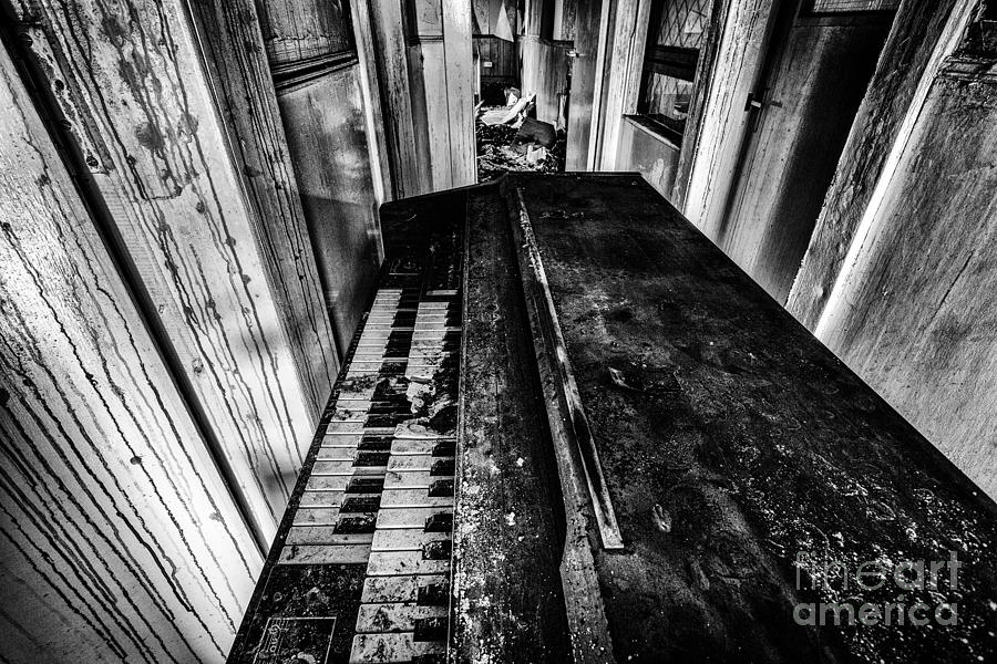 Old Piano Organ Photograph