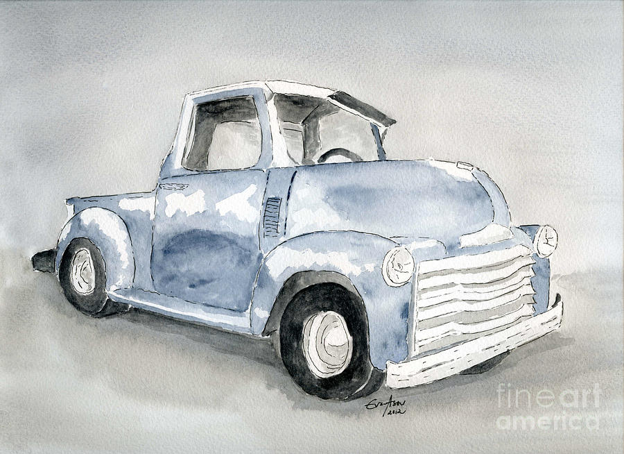 Old Pick Up Truck Painting  - Old Pick Up Truck Fine Art Print