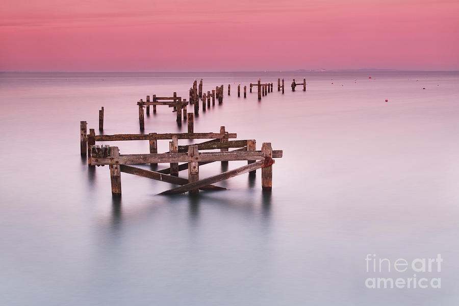 Old Pier At Swanage Photograph  - Old Pier At Swanage Fine Art Print