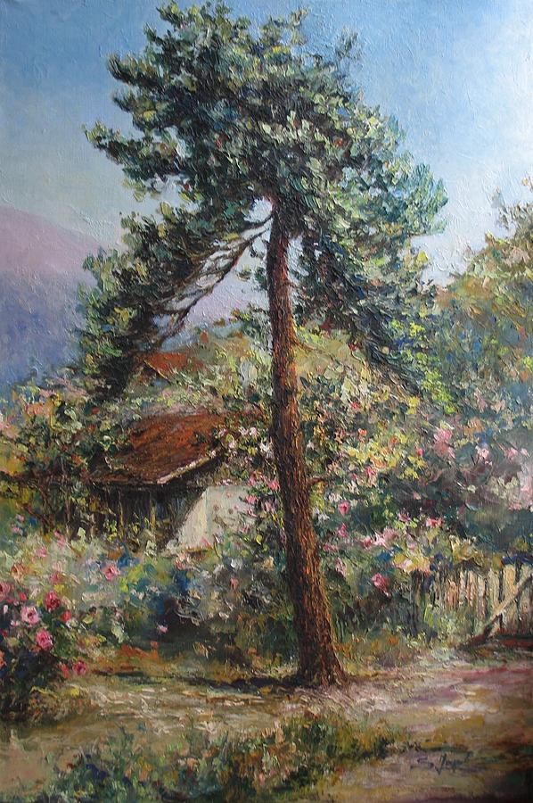 Old Pine Tree Painting