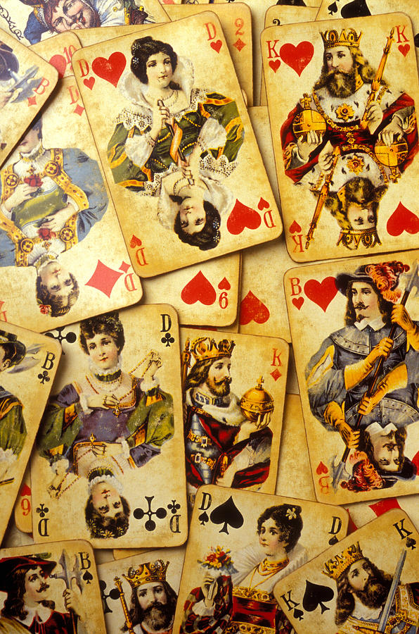 Card Photograph - Old Playing Cards by Garry Gay