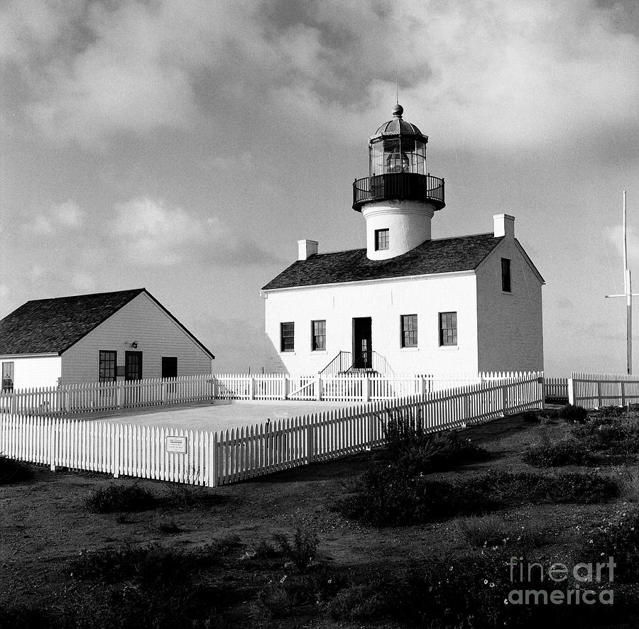 The Old Point Loma Lighthouse Photograph - Old Point Loma Lighthouse by Dean Robinson