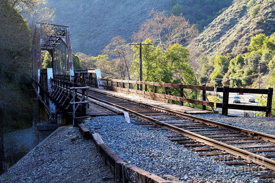 Old Railroad Bridge At Near Historic Niles District In California . 7d12743 Photograph