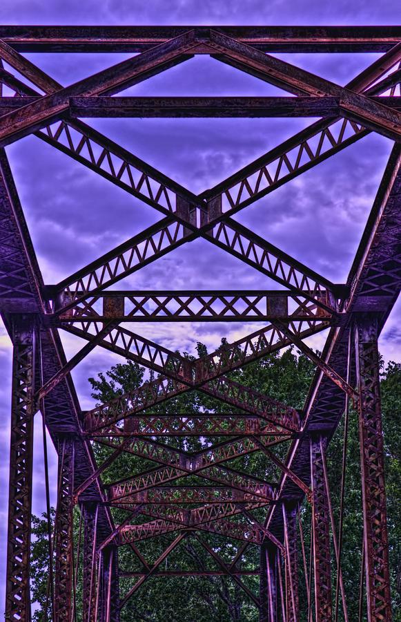 Old Railroad Bridge Photograph