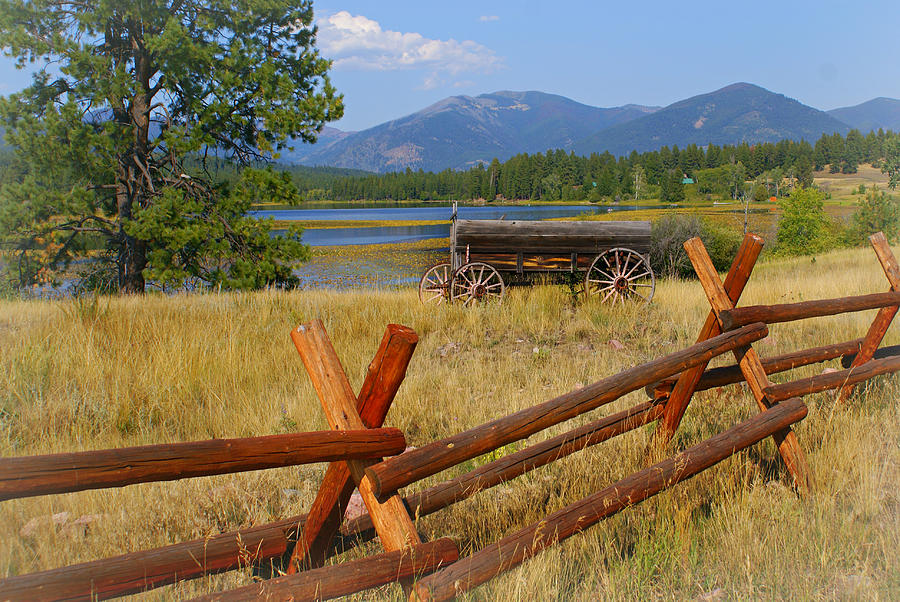 Old Ranch Wagon Photograph  - Old Ranch Wagon Fine Art Print