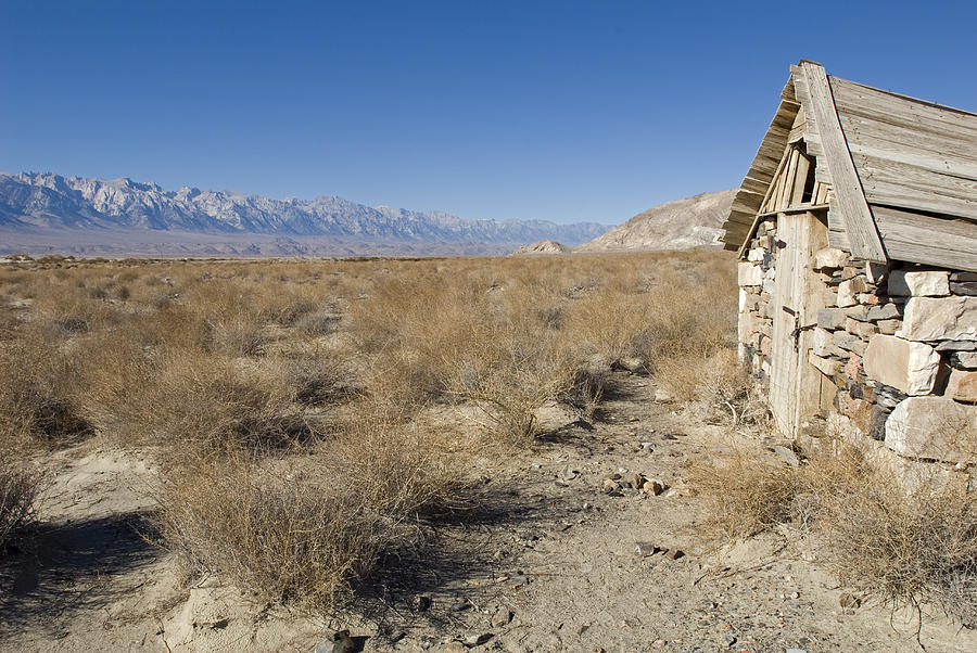 Old Rock Cabin At Dolomite Photograph