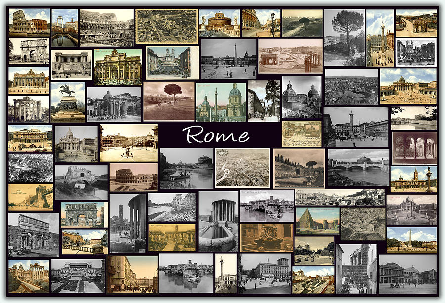 Old Rome Collage Photograph  - Old Rome Collage Fine Art Print