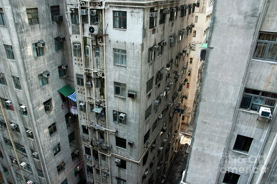 Old Run-down Concrete High-rise Apartment Buildings In ...