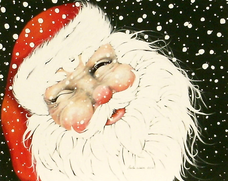 Old Saint Nick Mixed Media  - Old Saint Nick Fine Art Print