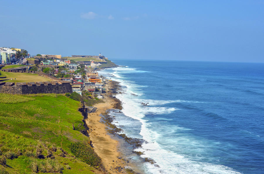 Old San Juan Coastline 3 Photograph