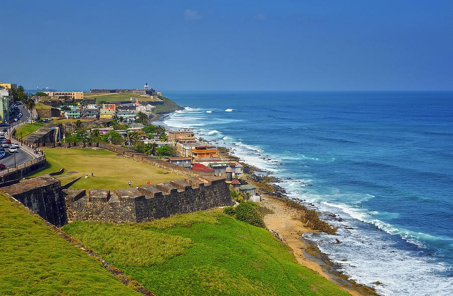 Old San Juan Coastline Photograph