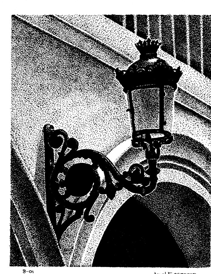Old San Juan Lamp Drawing
