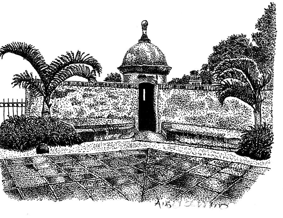 Old San Juan View Drawing