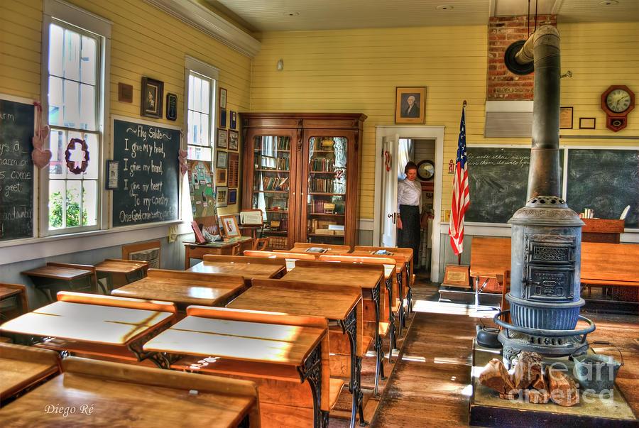 Old School; School; Sacramento; Vintage; Old; Teacher; Teachers; Schools; Sacramento; California; Country Rustic; Rustic Photograph - Old School II by Diego Re