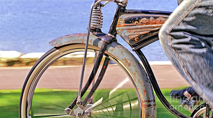 Old Schwinn Photograph  - Old Schwinn Fine Art Print