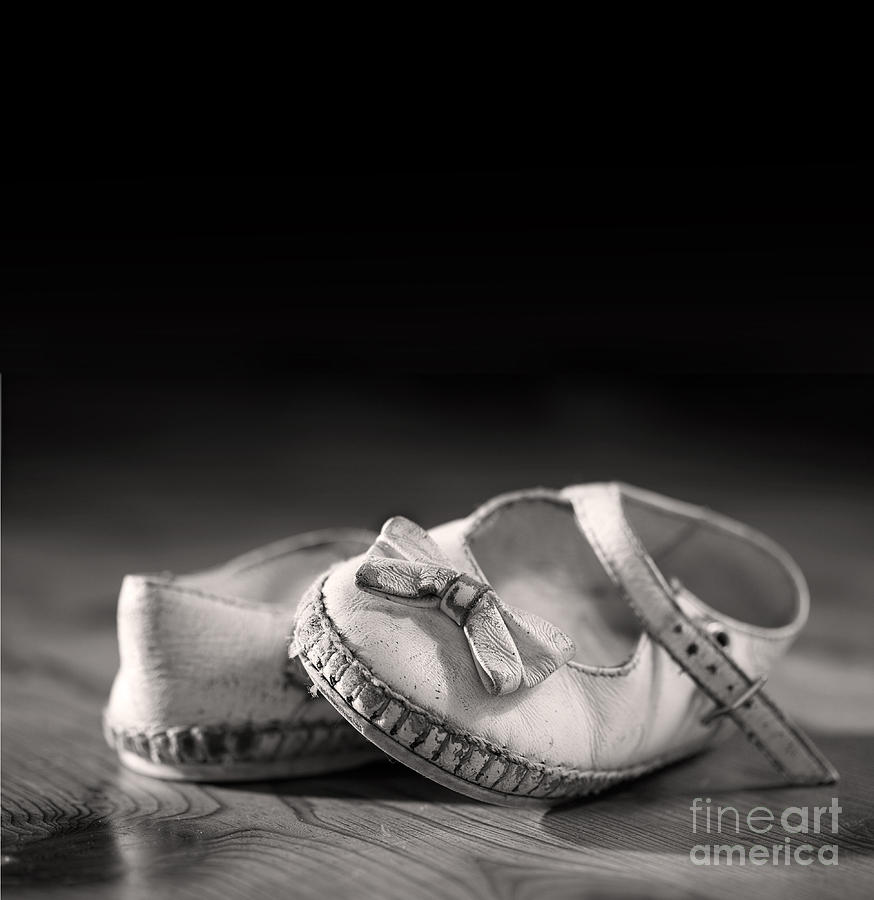 Aged Photograph - Old Shoes by Jane Rix