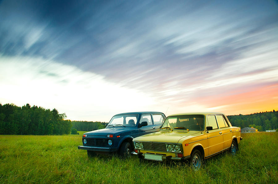 Old Soviet Cars Photograph