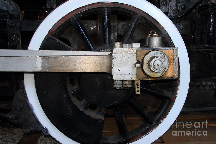 Old Steam Locomotive Engine 5 . The Little Buttercup . Train Wheel . 7d12916 Photograph  - Old Steam Locomotive Engine 5 . The Little Buttercup . Train Wheel . 7d12916 Fine Art Print