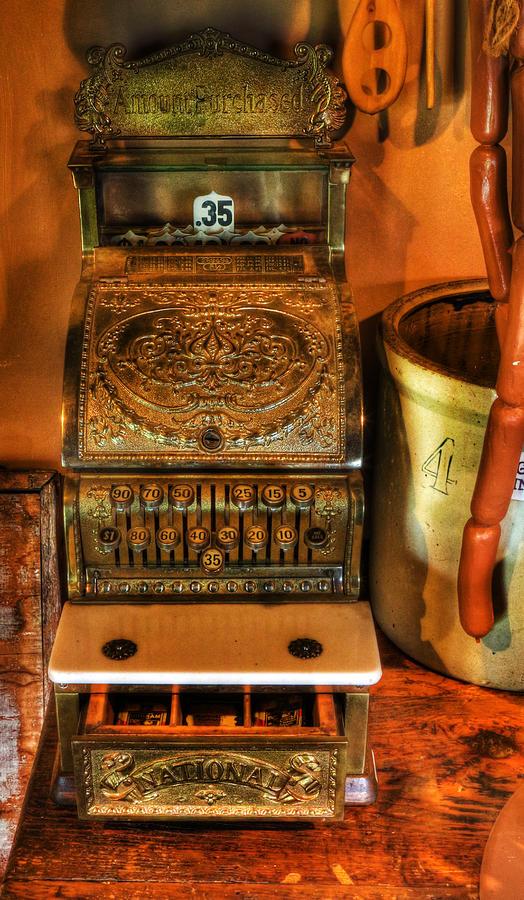 Old Time Cash Register - General Store - Vintage - Nostalgia  Photograph