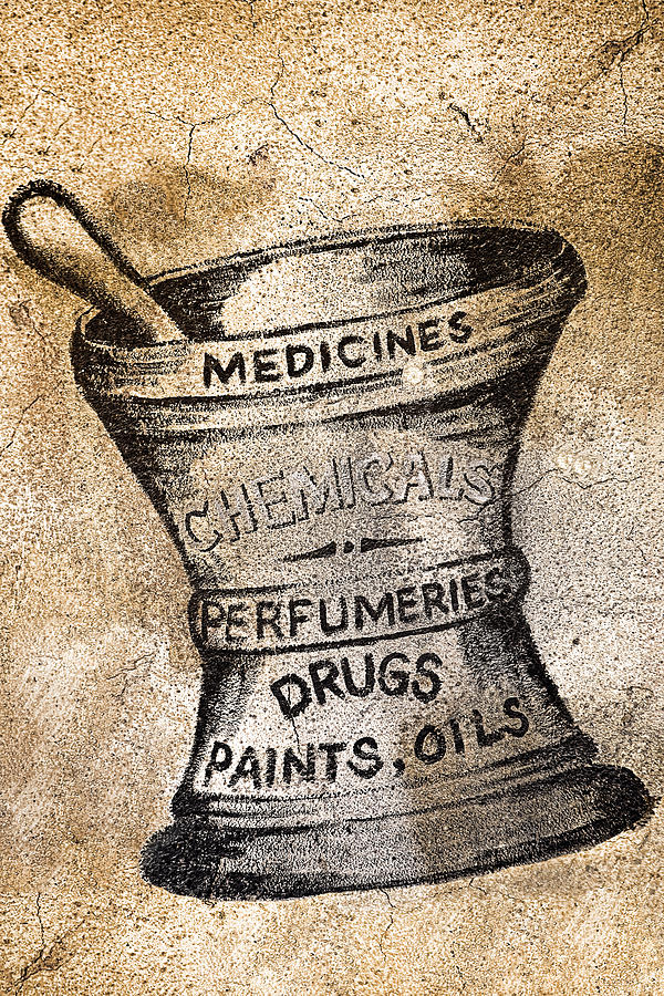 Public Photograph - Old Time Medicine Ad by Wendy White