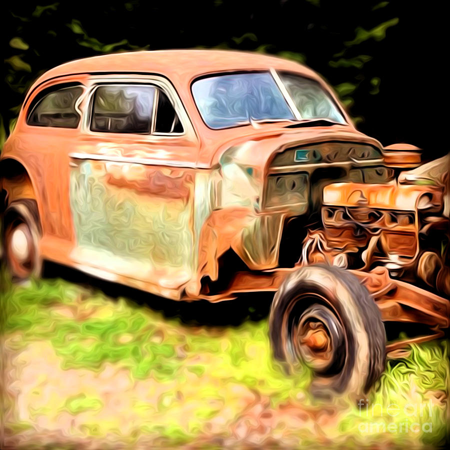 Car Photograph - Old Timer by Laura Brightwood