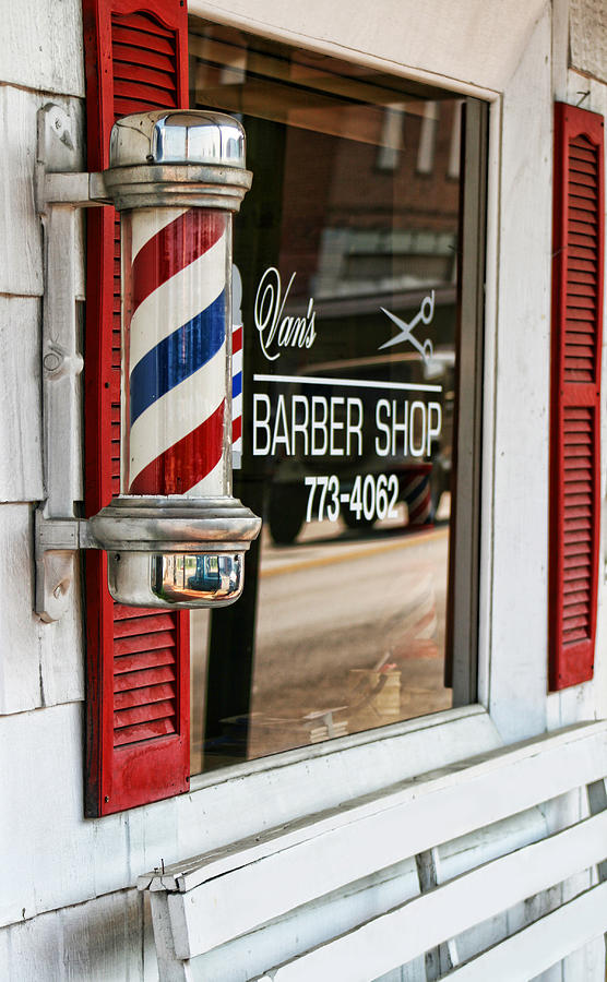 Old Timey Barber Shop And Pole Photograph by Kathy Clark