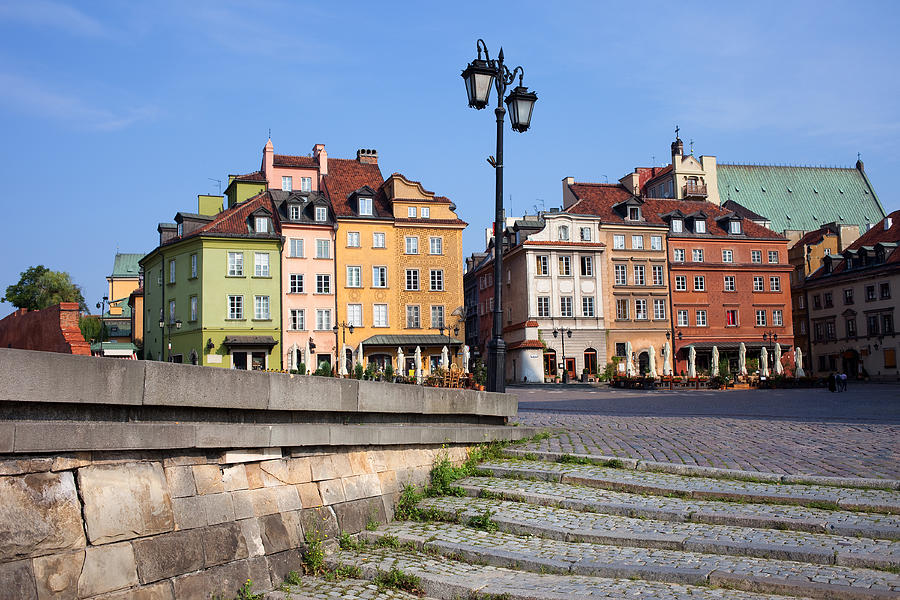 Old Town In Warsaw Photograph  - Old Town In Warsaw Fine Art Print