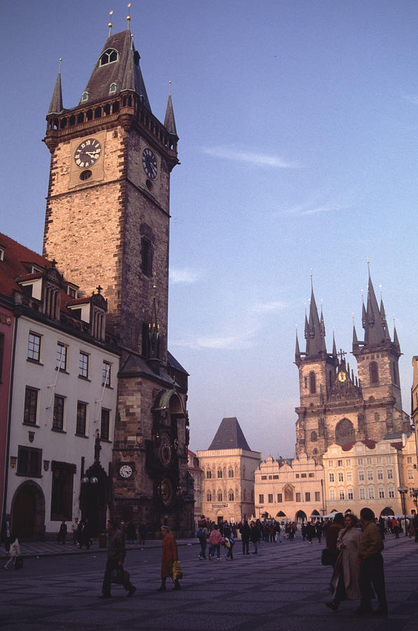 Old Town Square Prague At Sunset Photograph