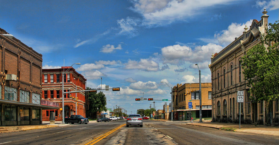 Old Town Taylor Intersection Photograph