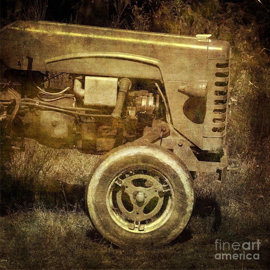 Abandoned Photograph - Old Tractor by Bernard Jaubert