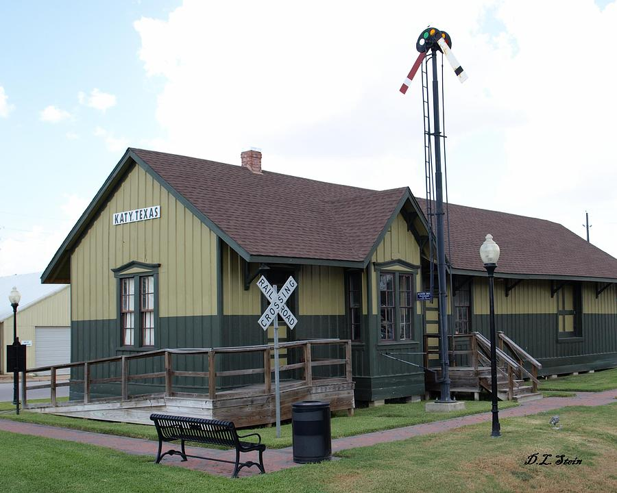Old Train Station Katy Texas By Dennis Stein
